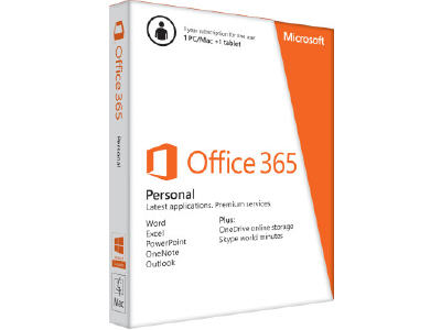 Microsoft Office 365 Personal 32/64-bit | Subscription License | 1 PC/Mac, 1 Phone, 1 Tablet | 1 Year